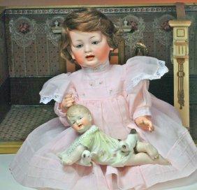 GERMAN BISQUE BABY BY HERTEL & SCHWAB.  Marks:  15