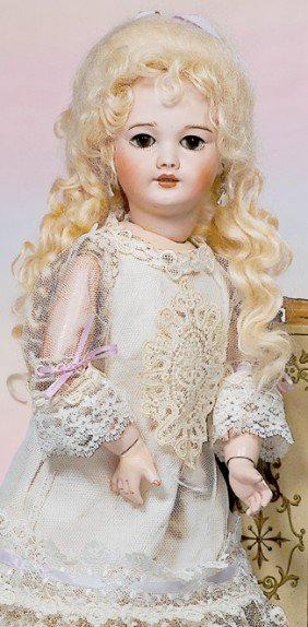 FRENCH BISQUE DOLL WITH LADY BODY.  Marks:  SFBJ 30