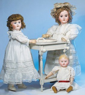 GERMAN BISQUE DOLL BY HANDWERCK