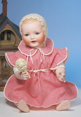 """LARGE """"VANTA BABY"""" GERMAN BISQUE CHARACTER BY AMBER"""