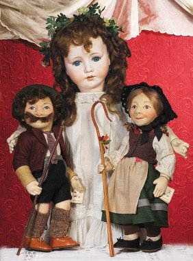 """R. JOHN WRIGHT EARLY CHARACTER DOLL """"GRETCHEN"""".  1"""