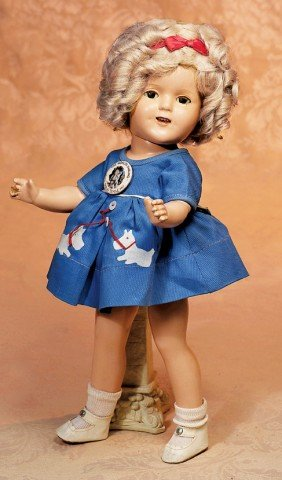 ALL-ORIGINAL IDEAL SHIRLEY TEMPLE COMPOSITION DOLL