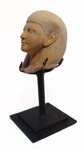An Egyptian Sandstone Head Of A Pharaoh