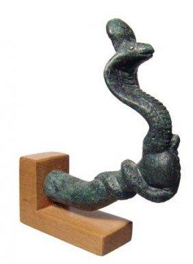 Graeco-Roman Bronze Arm Holding A Cobra