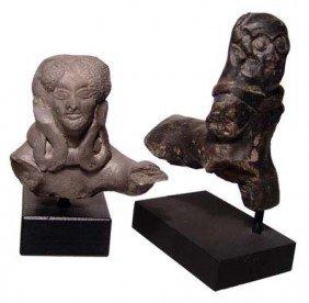 2 Terracotta Indian Figures, Mauryan Period