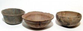 Lot Of 3 Pre-Columbian Ceramic Vessels