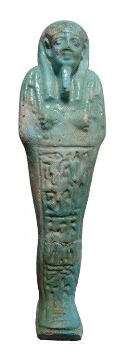 Nicely Detailed Blue-green Faience Ushabti