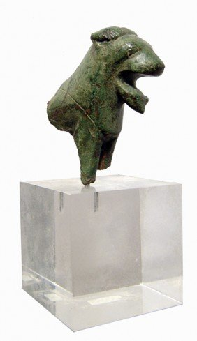 Forepart Of A Thracian Bronze Lion