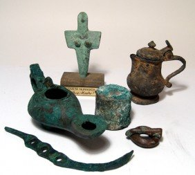 Lot Of 6 Mixed Bronze & Pewter Items