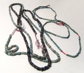 A Lot Of Strands Of Egyptian Faience Beads