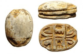 Egyptian Scarab With Cartouche Of Thutmose Iii, New