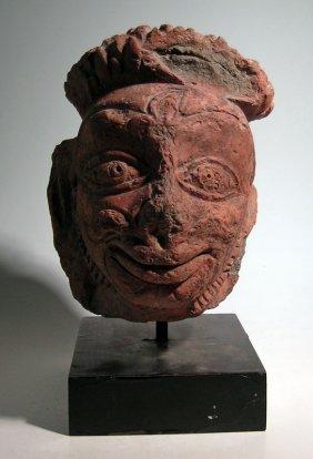 A Wonderful Majapahit Head From Java, Ca. 1300 - 1500