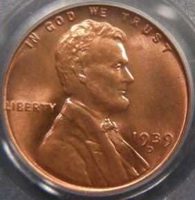 1939-D Lincoln Cent, PCGS MS67 Red