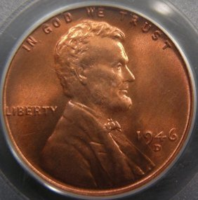 1946-D Lincoln Cent, PCGS MS67 Red