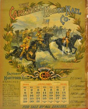 Capewell, 1899 Poster, Roosevelt Rough Riders
