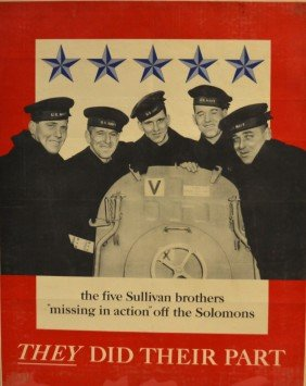 Poster, WWII Era Five Sullivan Brothers