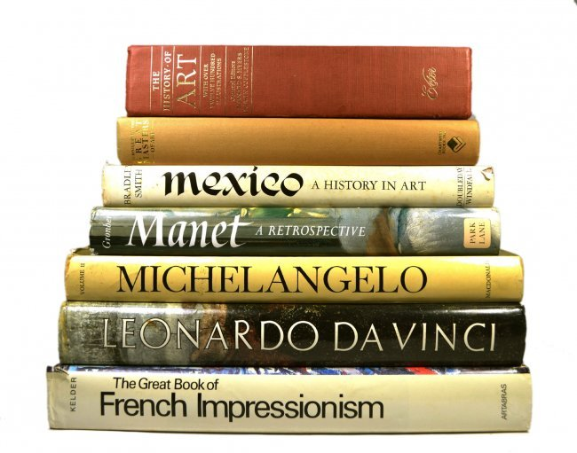 Coffee Table Art Books Da Vinci Manet Lot 103