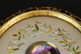 Plaque, Painted Porcelain, Embroidery, Fr