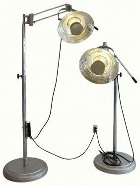Pair Hospital Lamps, Wilmont Castle Co., C.1950's