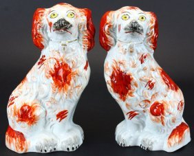 Staffordshire Figures, Pair Of Dogs