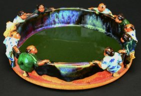 Japanese Bowl With Ten Figures, C 1900