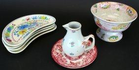 (7) Porcelain Group, Mason's Bone Plates, Bowl