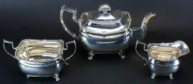 Sterling Silver, Sbim Irish Tea Set , 3 Piece