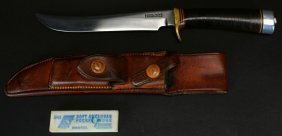 "Randall, M-3 , H. Heiser Brown Butt, 7"" Blade"
