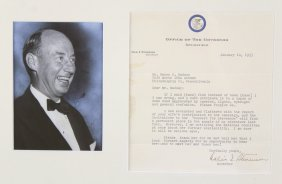 Letter, Adlai Stevenson 1953