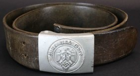 Nazi Hitler Youth Belt Buckle And Belt