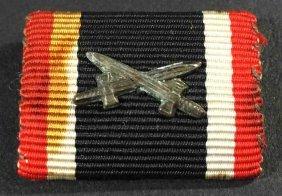 Original Nazi Visor Cap, Eagles And Ribbon Device