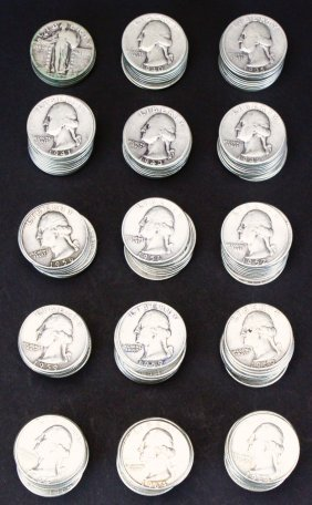 175 Silver Quarters, Standing Liberty, 20th C.
