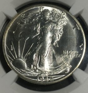 1942-s $.50 Walking Liberty Half Dollar Ms 63 Ngc