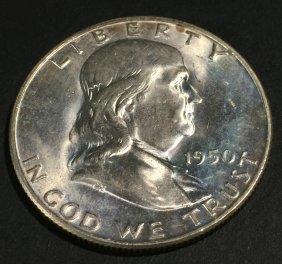 1950-d Franklin $. 50 Ms62 Fbl