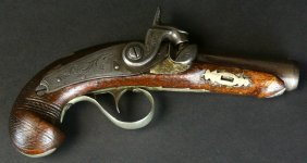 Pistol, Percussion Derringer, Booth/lincoln