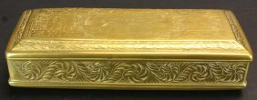 Dutch Engraved Brass Tobacco Box, 1850