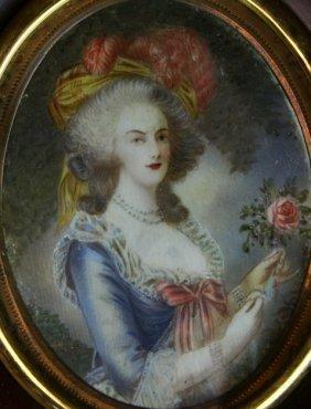 W/c/g On Ivory, Portrait Of A Woman