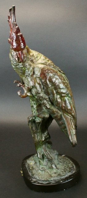 Bronze Parrot By Carl Kauba
