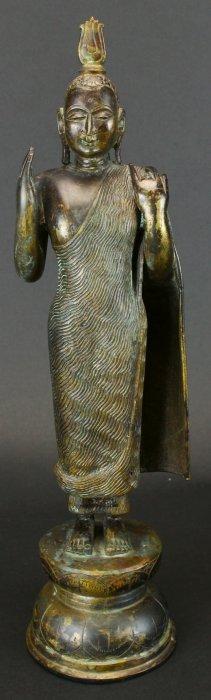 Sri Lankan Standing Bronze Buddha