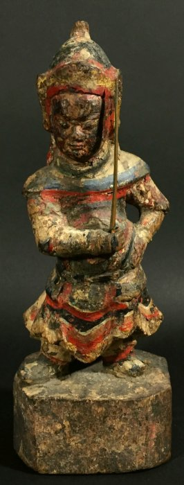 Chinese Wood Statue, Mongolian Guard