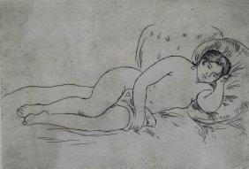 E/c, 'nu Couche En Droit' By Renoir