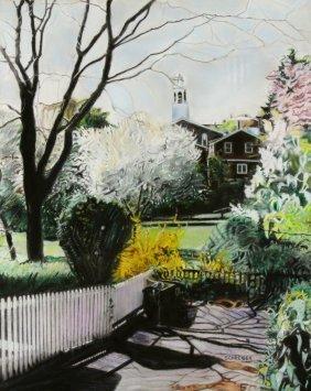 """P/P Marblehead, """"Spring Scene"""" by H. Schreiber"""