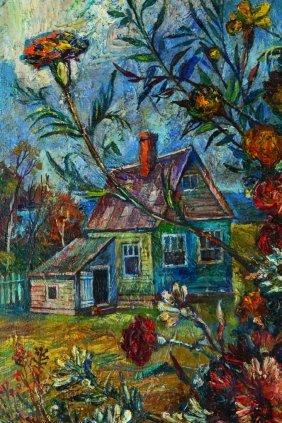 O/C David Burliuk, The Artist's Home