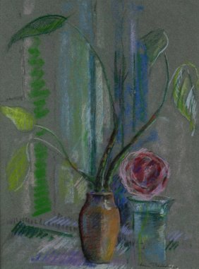 P/p Carnation And Philodendron By Berthelsen