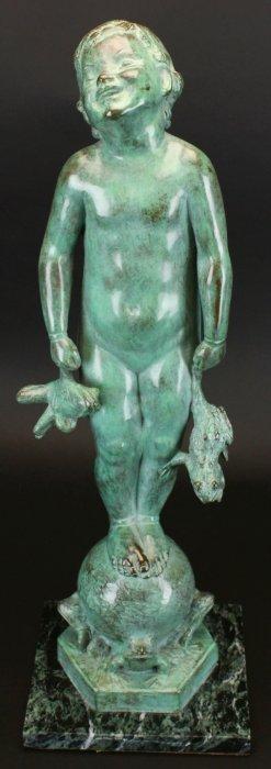 Bronze Sculpture, Frog Baby, E B Parsons