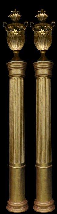 Columns, Pair, 10' Russian Empire, C. 1810-20
