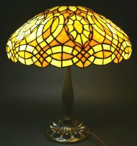 Duffner Leaded Table Lamp, Featured In Book