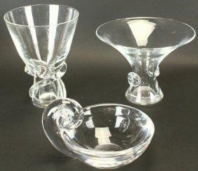 (3) Steuben Glassware Pieces