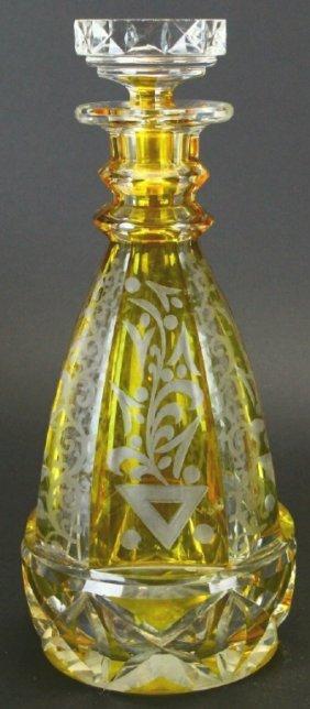 Bohemian Cut Glass Decanter