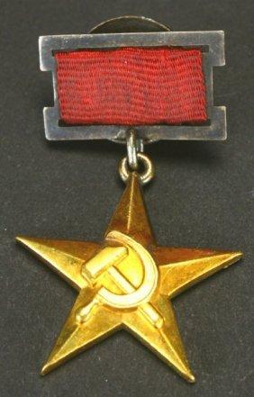 1st Hero Of Socialist Labor 29, Early Sm. Ribbon